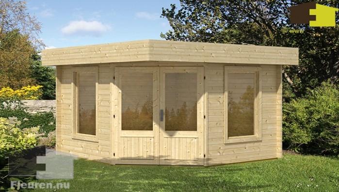 Blokhut winold moderne en platte daken blokhut for Gartenhaus mit zwei raumen