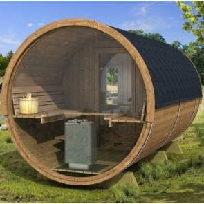 Sauna barrel 400 de luxe