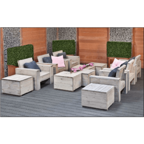 Loungestoel Big met hocker