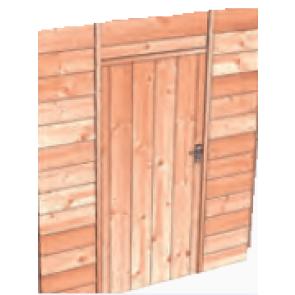 Vlakke douglas deur
